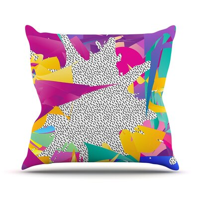 80s Abstract by Danny Ivan Throw Pillow Size: 20 H x 20 W x 1 D