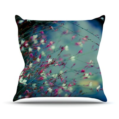 Monets Dream Flower Throw Pillow Size: 26 H x 26 W x 1 D