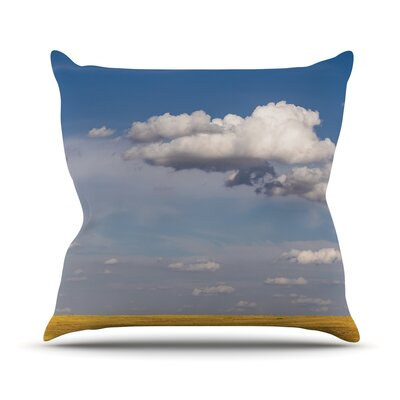 Big Sky by Ann Barnes Clouds Throw Pillow Size: 26 H x 26 W x 1 D