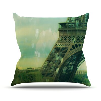 Paris Dreams by Ann Barnes Tower Throw Pillow Size: 16 H x 16 W x 1 D