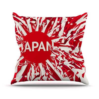 Japan by Danny Ivan World Cup Throw Pillow Size: 16'' H x 16'' W x 1