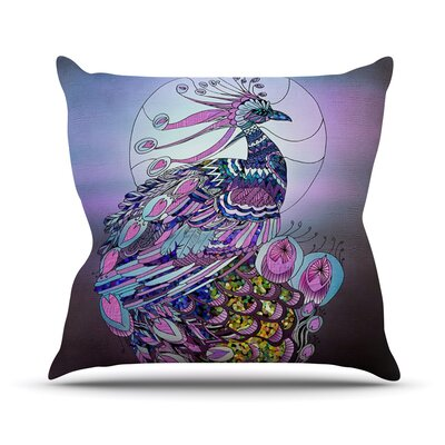 Peacock Throw Pillow Size: 18 H x 18 W x 1 D