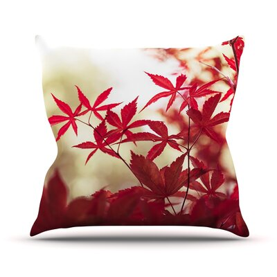 September Afternoon by Ann Barnes Leaves Throw Pillow Size: 26 H x 26 W x 1 D