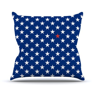 Star by Bruce Stanfield Throw Pillow Size: 16'' H x 16'' W x 1