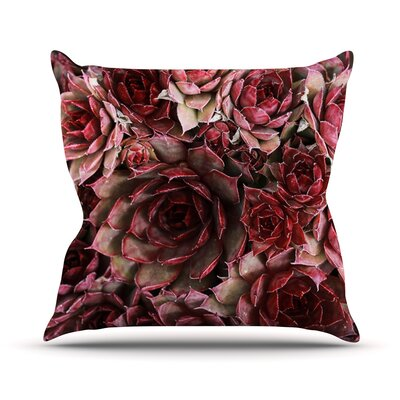 Succulents by Debbra Obertanec Maroon Throw Pillow Size: 26 H x 26 W x 1 D