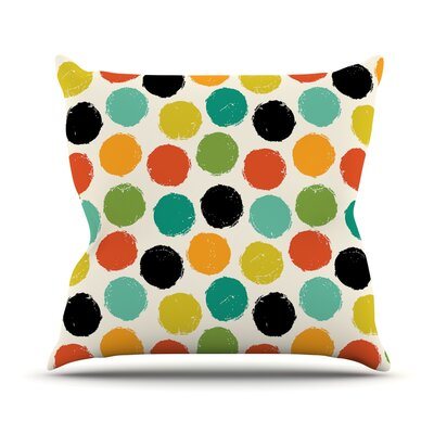 Retro Dots Repeat Throw Pillow Size: 26 H x 26 W x 1 D