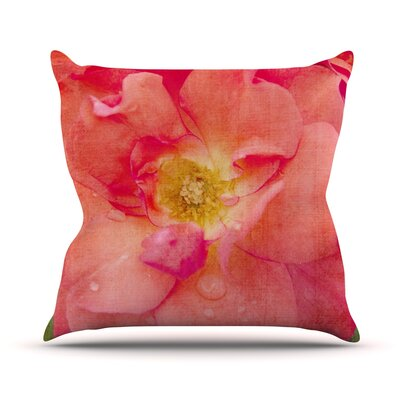 Rose by Catherine McDonald Flower Throw Pillow Size: 26 H x 26 W x 1 D