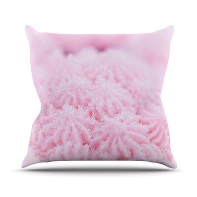 Cupcake by Debbra Obertanec Sparkle Throw Pillow Size: 16 H x 16 W x 1 D
