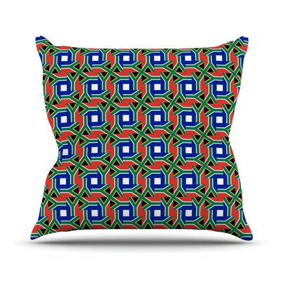 South Africa by Bruce Stanfield Throw Pillow Size: 18 H x 18 W x 1 D