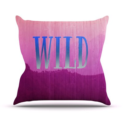 Wild by Catherine McDonald Throw Pillow Size: 20 H x 20 W x 1 D