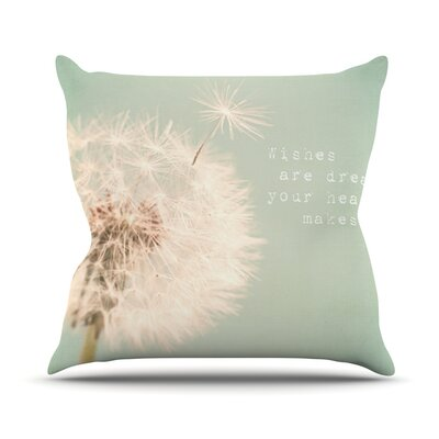 Wishes Are Dreams by Debbra Obertanec Fuzzy Throw Pillow Size: 26 H x 26 W x 1 D