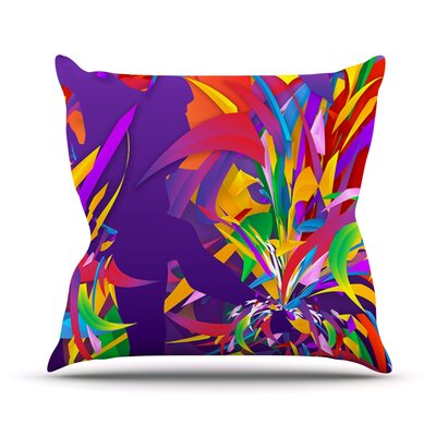 Shooting by Danny Ivan Rainbow Throw Pillow Size: 16 H x 16 W x 1 D