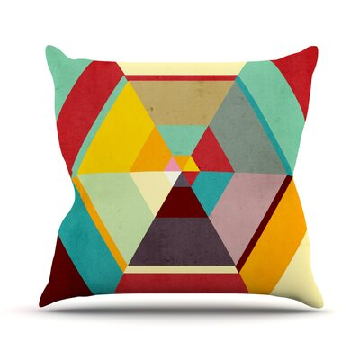 Color Mess by Danny Ivan Throw Pillow Size: 26 H x 26 W x 1 D