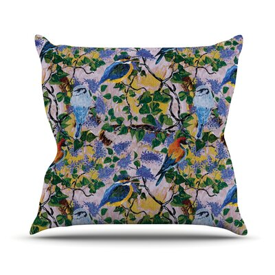 Birds by DLKG Design Throw Pillow Size: 26 H x 26 W x 1 D