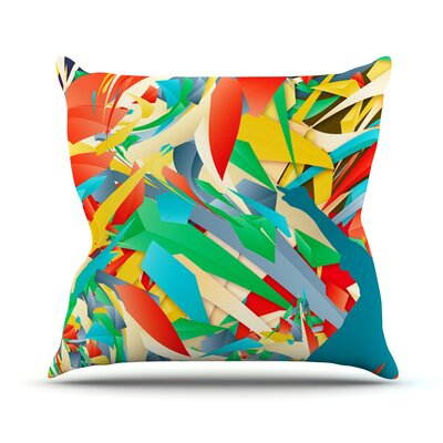 Soccer Slide Crazy Rainbow Throw Pillow Size: 26 H x 26 W x 1 D