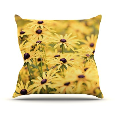 Pantone by Debbra Obertanec Flower Daisy Throw Pillow Size: 18 H x 18 W x 1 D