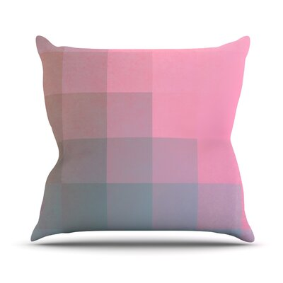 Girly Pixel Surface by Danny Ivan Throw Pillow Size: 18 H x 18 W x 1 D
