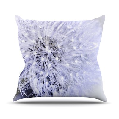 Wish by Debbra Obertanec Flower Throw Pillow Size: 18 H x 18 W x 1 D