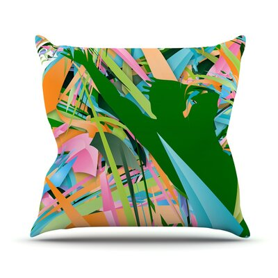 Soccer Defense by Danny Ivan Throw Pillow Size: 18 H x 18 W x 1 D