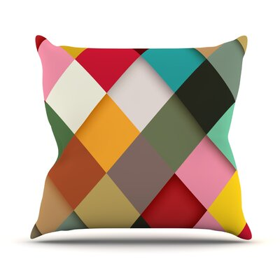 Colorful by Danny Ivan Throw Pillow Size: 18 H x 18 W x 1 D