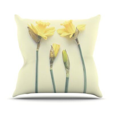 Springtime by Debbra Obertanec Tulip Throw Pillow Size: 18 H x 18 W x 1 D