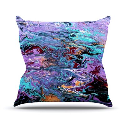 Lola by Claire Day Paint Throw Pillow Size: 20 H x 20 W x 1 D