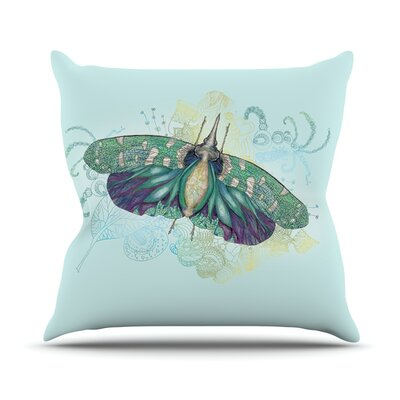 Deco by Catherine Holcombe Moth Throw Pillow Size: 18 H x 18 W x 1 D