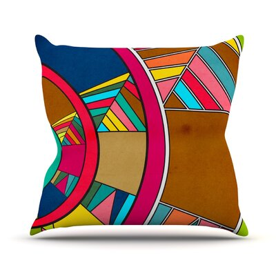 Lov Pattern by Danny Ivan Throw Pillow Size: 16 H x 16 W x 1 D