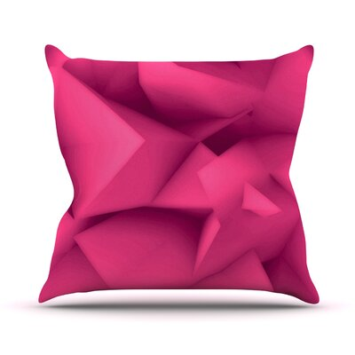 Surface by Danny Ivan Throw Pillow Size: 26 H x 26 W x 1 D