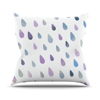 Opal Drops by Daisy Beatrice Peach Throw Pillow Size: 26 H x 26 W x 1 D, Color: Purple/White