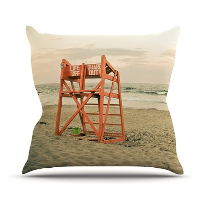 Dusk At the Beach by Debbra Obertanec Ocean Throw Pillow Size: 26 H x 26 W x 1 D