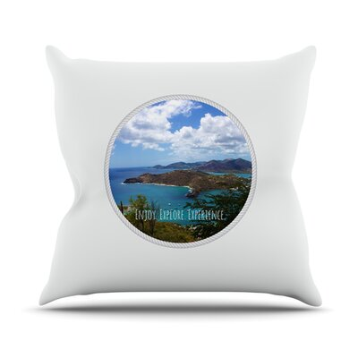 Enjoy Explore Experience by Deepti Munshaw Island Throw Pillow Size: 20 H x 20 W x 1 D