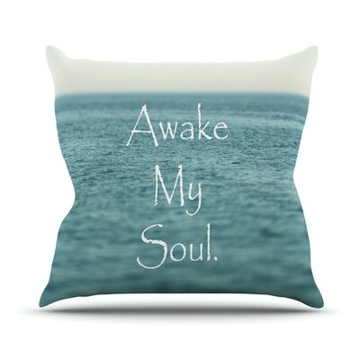 Awake My Soul by Debbra Obertanec Throw Pillow Size: 26 H x 26 W x 1 D