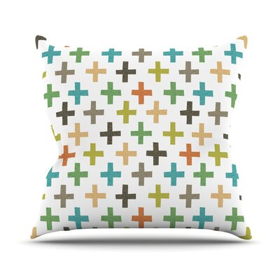 Hipster Crosses Repeat by Daisy Beatrice Throw Pillow Size: 18 H x 18 W x 1 D