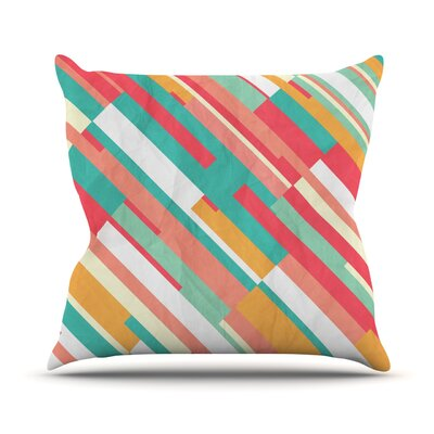 Droplines by Danny Ivan Throw Pillow Size: 20 H x 20 W x 1 D