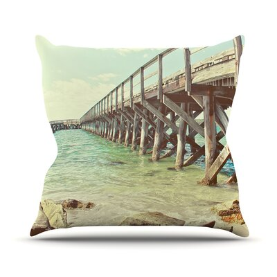 On The Pier by Debbra Obertanec Beach Throw Pillow Size: 20 H x 20 W x 1 D