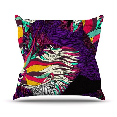 Color Husky by Danny Ivan Throw Pillow Size: 26 H x 26 W x 1 D