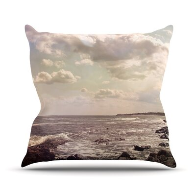 Rocky Coast by Debbra Obertanec Sea View Throw Pillow Size: 26 H x 26 W x 1 D