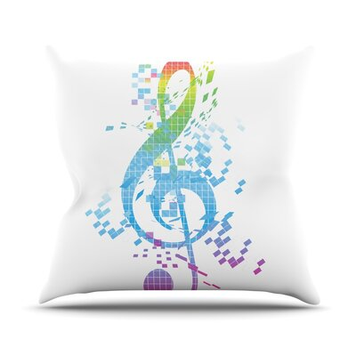 Rainbow Key by Frederic Levy-Hadida Throw Pillow Size: 18 H x 18 W x 1 D
