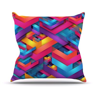 Own Luck by Danny Ivan Throw Pillow Size: 26 H x 26 W x 1 D