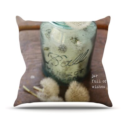 Jar of Wishes by Debbra Obertanec Fuzzy Throw Pillow Size: 18 H x 18 W x 1 D