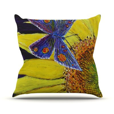 Butterfly by David Joyner Throw Pillow Size: 18 H x 18 W x 1 D