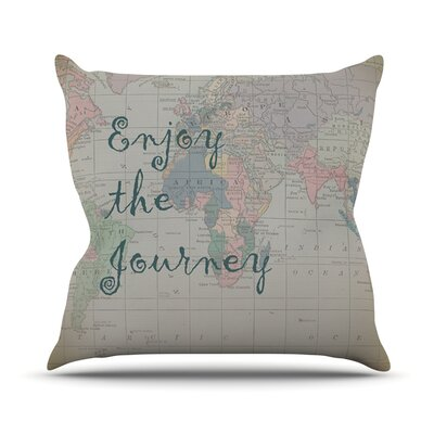 Journey by Catherine Holcombe World Map Throw Pillow Size: 26 H x 26 W x 1 D