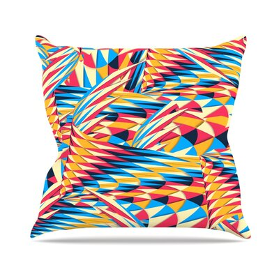 Painting Life by Danny Ivan Abstract Throw Pillow Size: 18 H x 18 W x 1 D