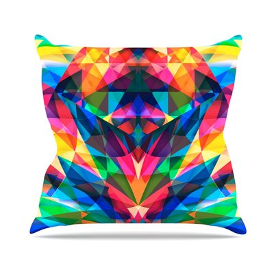 Day We Met by Danny Ivan Rainbow Geometric Throw Pillow Size: 18 H x 18 W x 1 D
