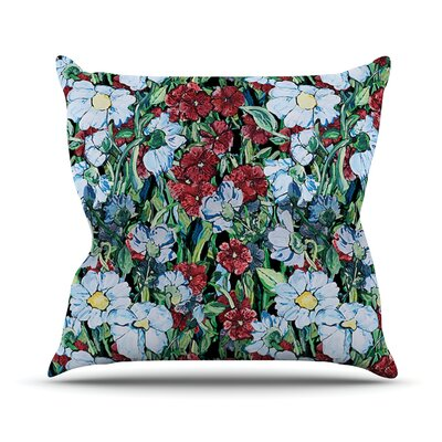 Giardino by DLKG Design Garden Flowers Throw Pillow Size: 16 H x 16 W x 1 D
