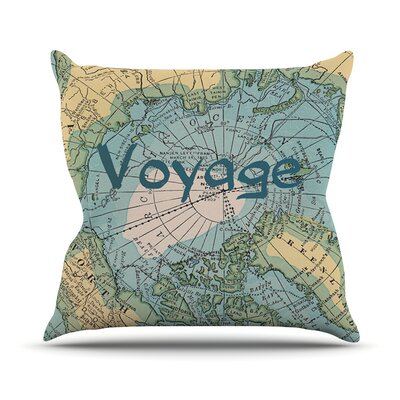 Voyage by Catherine Holcombe Map Throw Pillow Size: 18 H x 18 W x 1 D