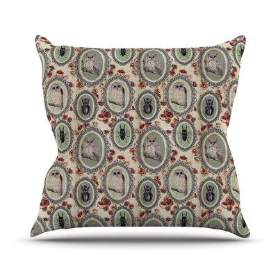 Camafeu by DLKG Design Beetles Throw Pillow Size: 18 H x 18 W x 1 D