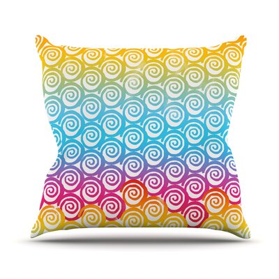 Ethnic Spirals by Frederic Levy-Hadida Rainbow Throw Pillow Size: 20 H x 20 W x 1 D