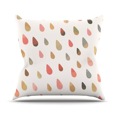 Opal Drops by Daisy Beatrice Peach Throw Pillow Size: 26 H x 26 W x 1 D, Color: Peach/White